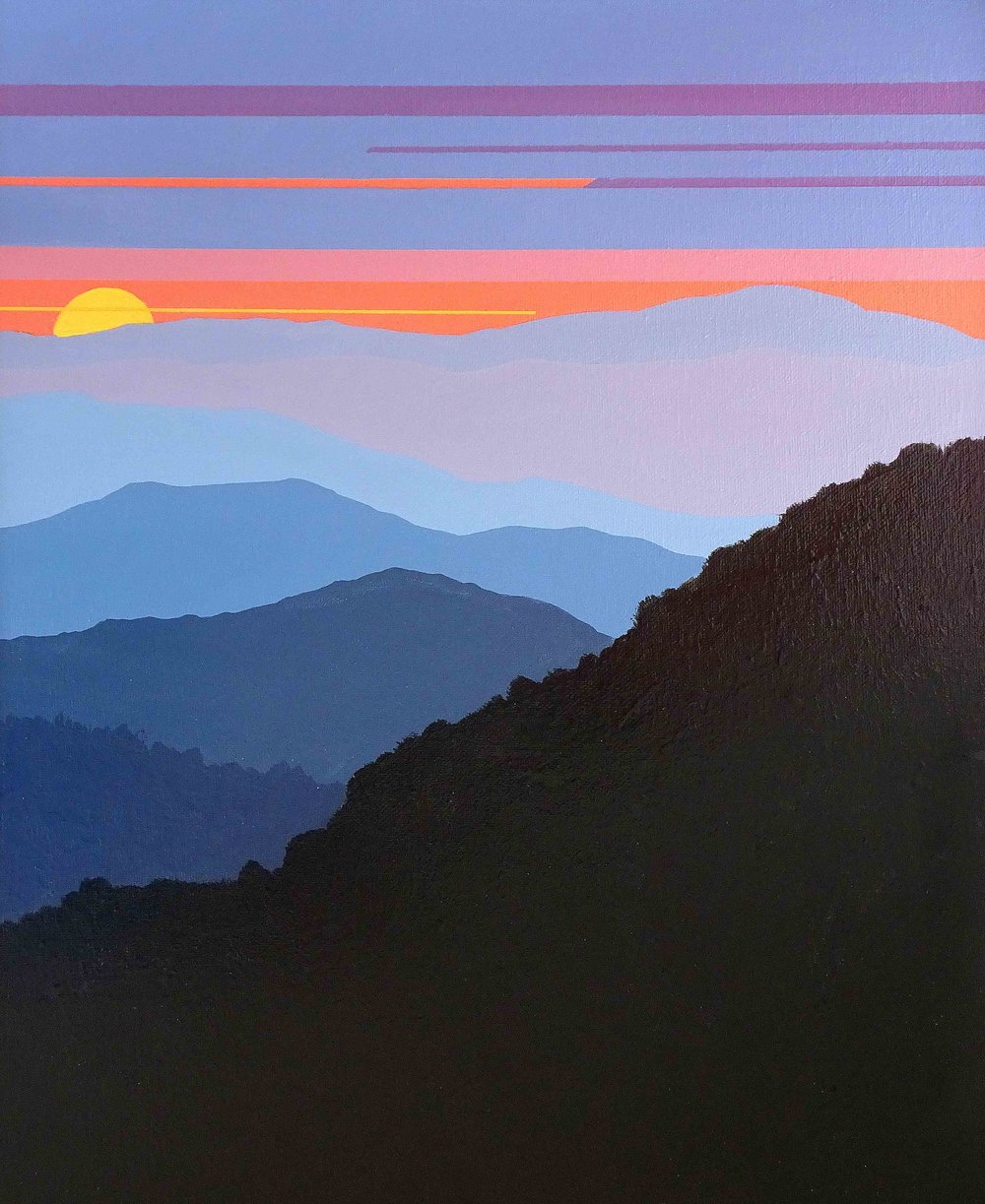 """""""SHEBERT SUNSET"""",  Acrylic on Canvas,  18X24 inches,  $400,  SOLD"""