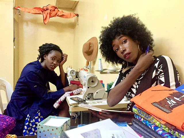 Reminiscing on a Sunday...🌸Almost one year ago that we sat in Tuzo's old workshop and brainstormed about our first collection. Look where we are now ?😍 We can't wait to plan the next! #madeinkenya #whomademyclothes #littlebylittle #womenempowerment
