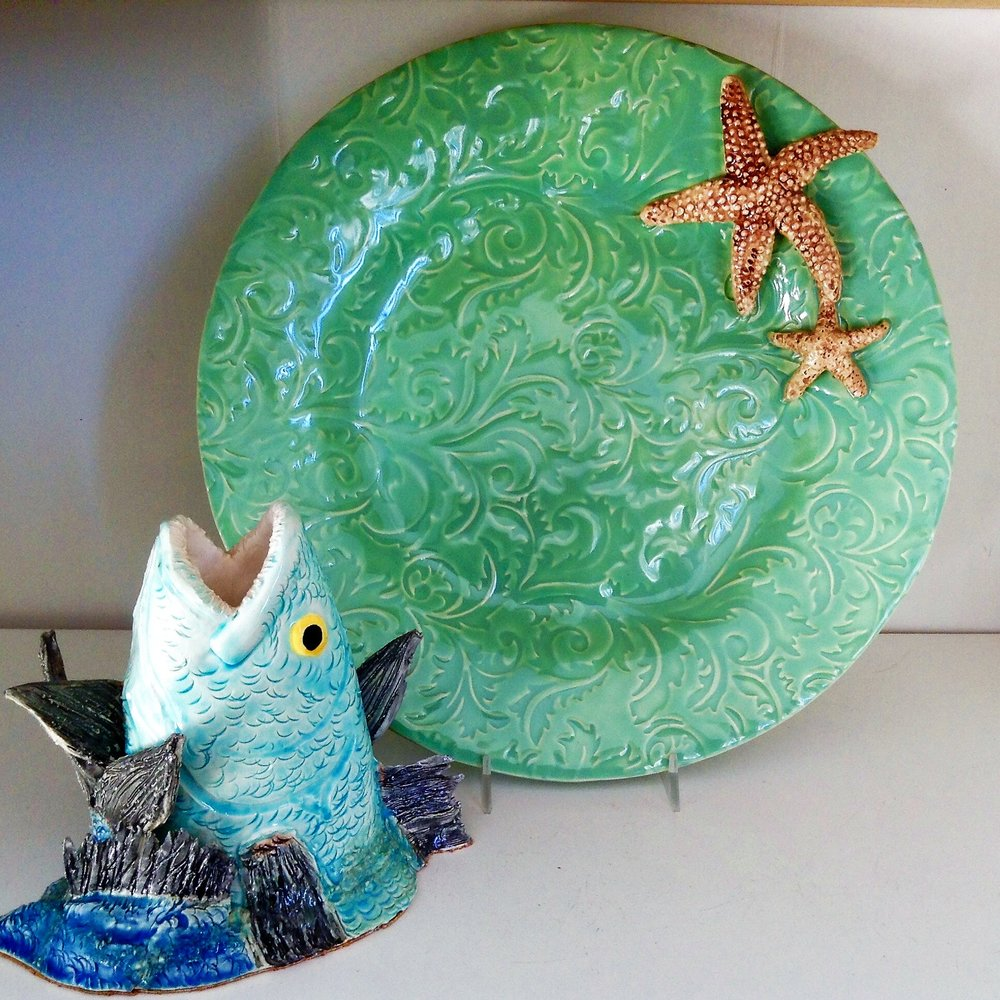 - After Blue PotteryBob LaCava's pottery is inspired by the sea and the creatures we share it with.  He sculpts and hand paints each piece of clay in his Cape Cod studio.