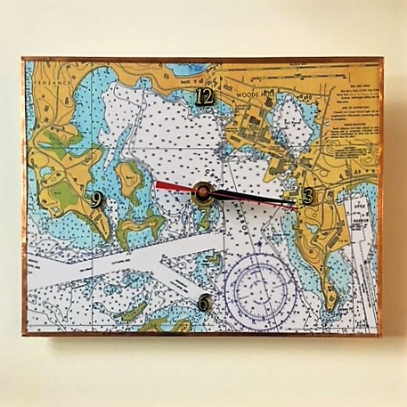 - Handcrafted nautical chart wall clocks representative of local Falmouth and Cape Cod waterways.By Joyce Stratton$35.00