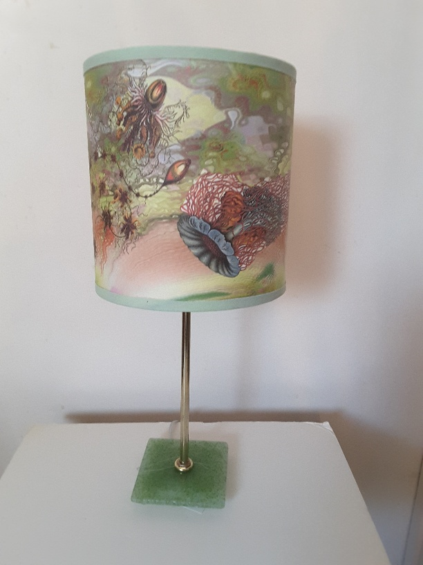 - Hand made lampshades by  artist Joyce Stratton.  Click image above to view various designs!Price Range:  $80.00 - $90.00