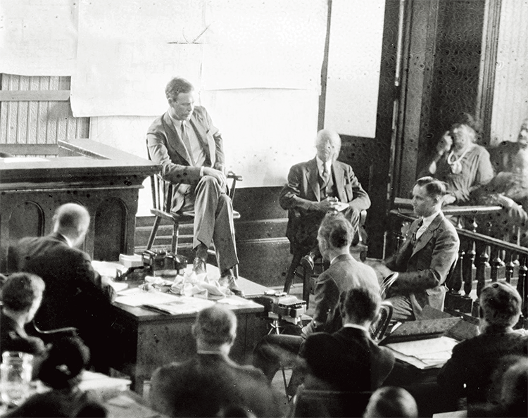 Charles Lindbergh testifying at the trial of Bruno Hauptmann.