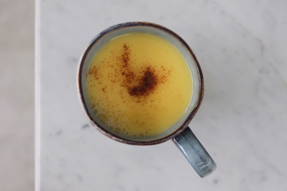 White Hot Chocolate with Cardamom and Orange -