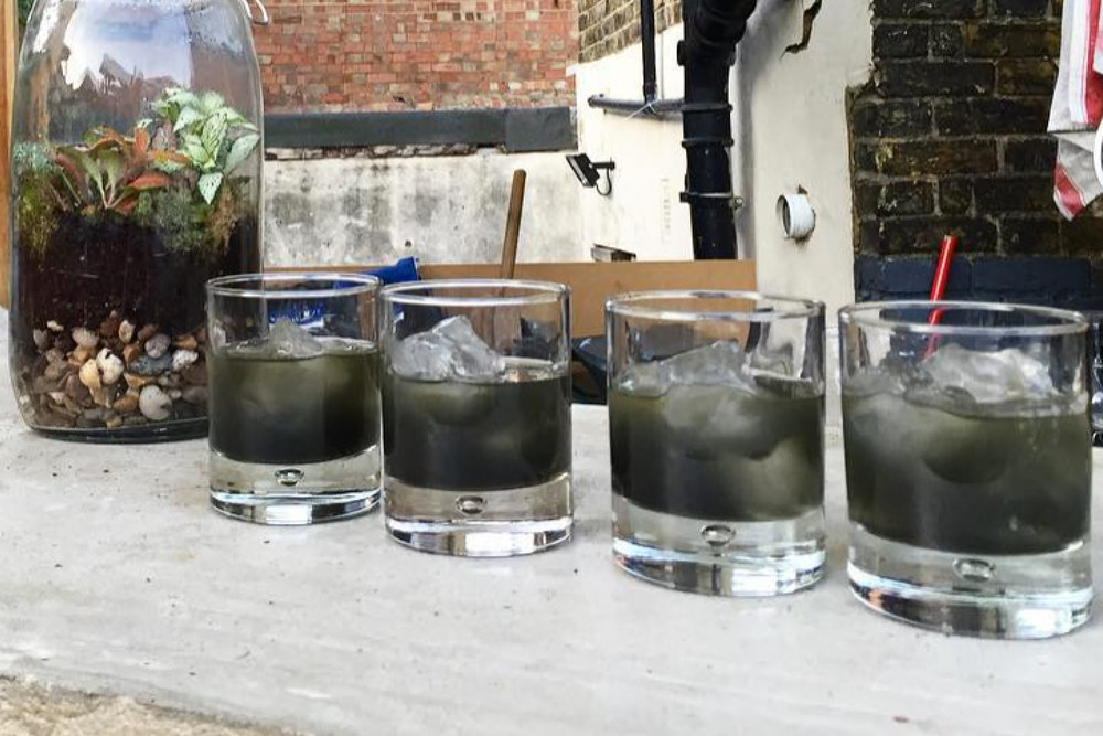Charcoal Whisky Cocktail -