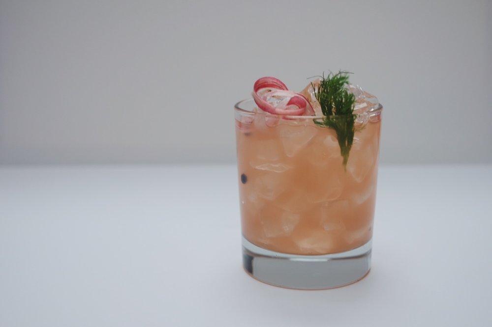 Rhubarb and Fennel Collins -