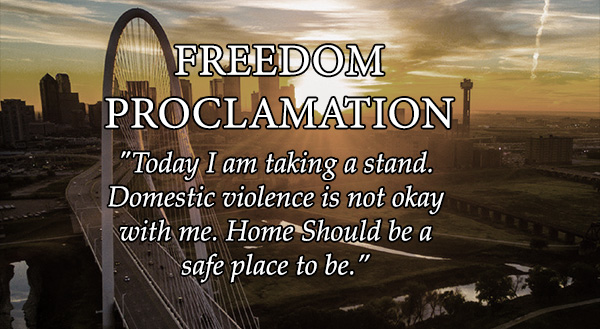 Join us in taking the Freedom Proclamation. Read about and share online!