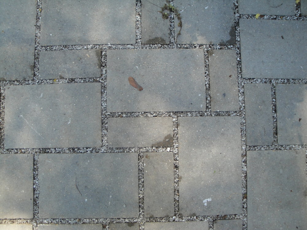 Pavers w/permeable grout