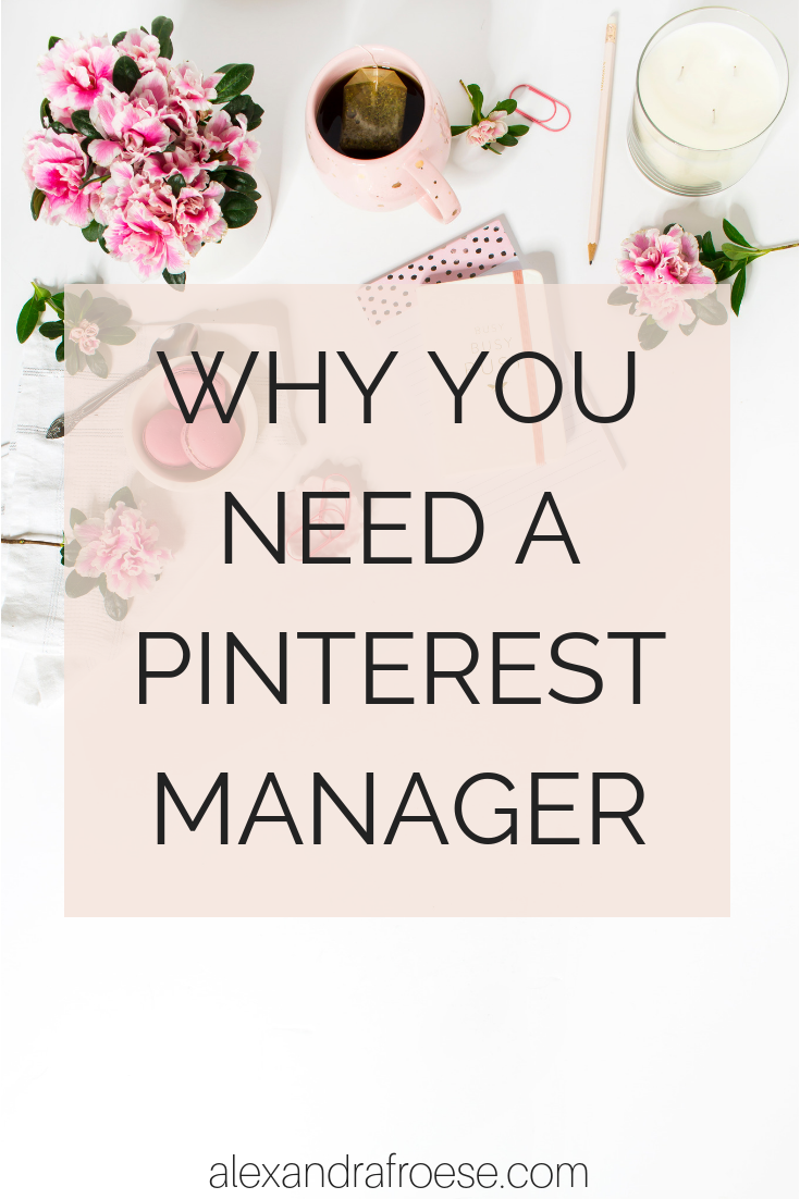 Does Pinterest have you feeling confused and overwhelmed? You're not the only one - trust me! Pinterest has a pretty steep learning curve, and it can be hard to keep up with the many changes that occur. This is where a Pinterest Manager comes in handy! A Pinterest manager will make changes and adjustments to your Pinterest Strategy as needed - without you having to lift a finger. #alexandrafroese #socialmedia #social #media #pinterestmanager #pinterest #manager #management #VA