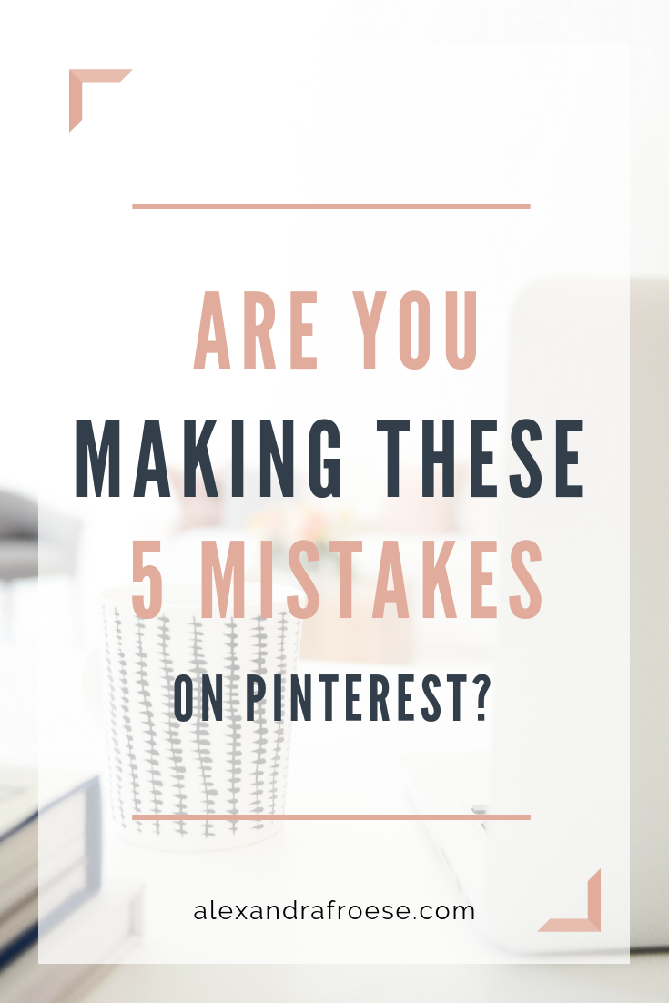 I've had the opportunity to help a variety of business owners tackle the beast that is Pinterest. And although each business has had its own unique challenges with the platform, I've found several common issues that pop up each time - even with seasoned Pinners. Check out this list of the top 5 mistakes people are making on Pinterest - and how to fix them!  #Pinterest #marketing #socialmedia #entrepreneur