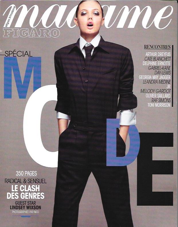 Madame Figaro - 28 Aout 2015 - Couv.jpeg