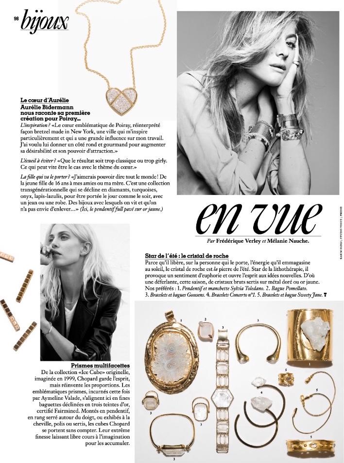 Vogue - Juin, Juillet 2017 - Bracelet Side Cristal de Quartz.jpg