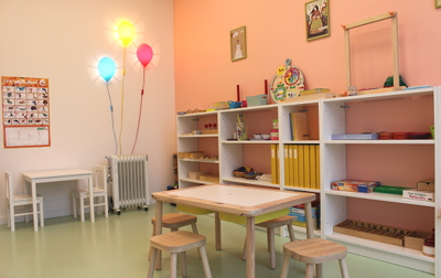 Espace 2-3 ans - L'espace de travail pour les enfants âgés de 2 à 3 ans