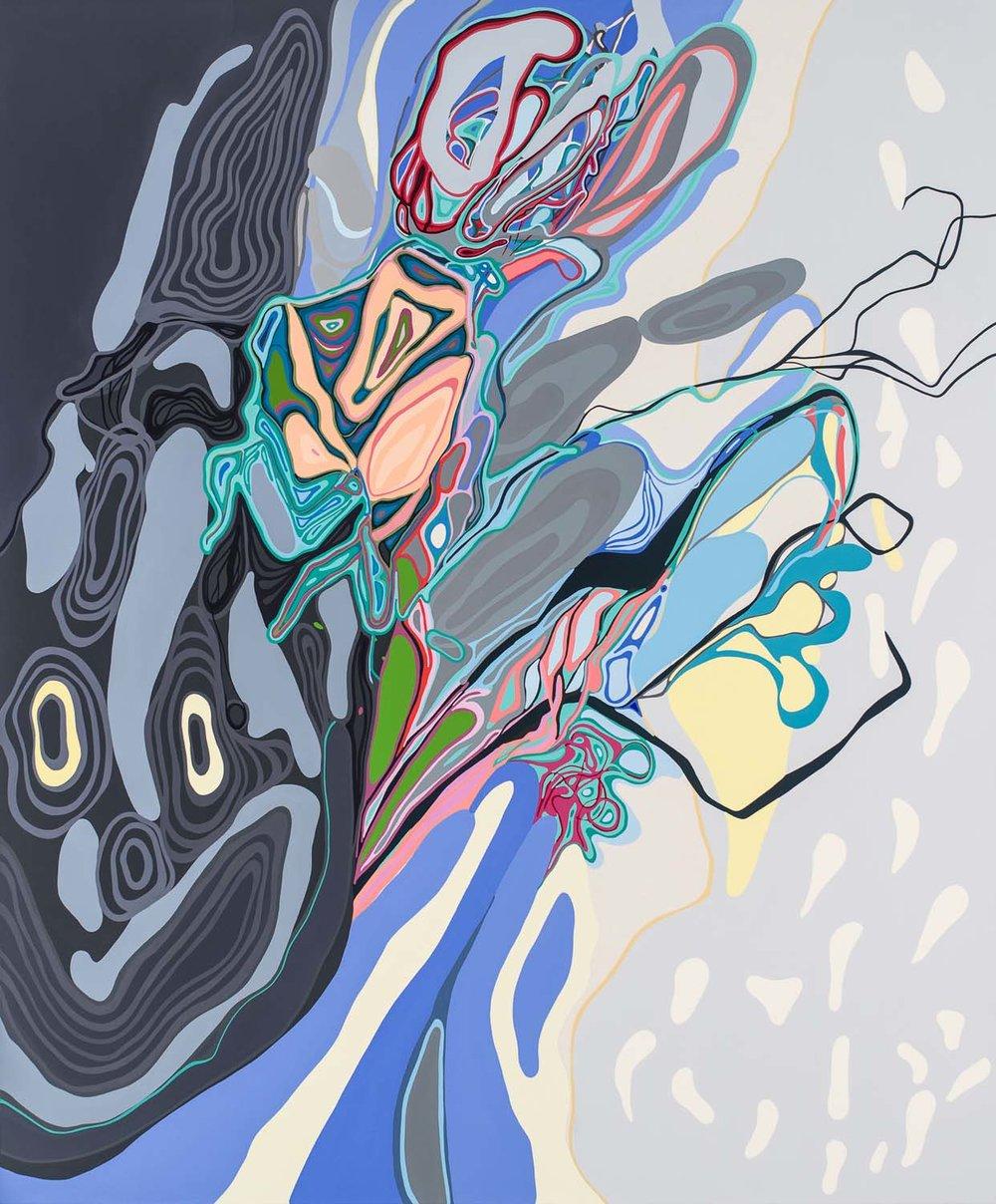 atropine ulnas , 2016 acrylic on canvas 70 x 60 inches