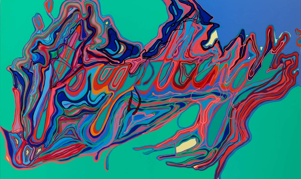 forgetting , tbd acrylic on canvas 30 x 50 inches
