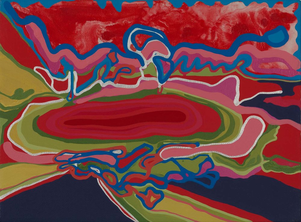 untitled , 2011 9 x 12 inches acrylic on canvas