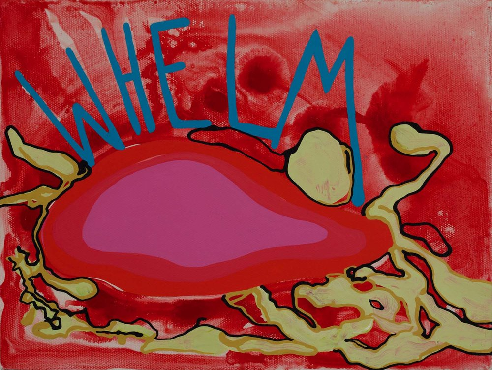 whelm , 2011 9 x 12 inches acrylic on canvas