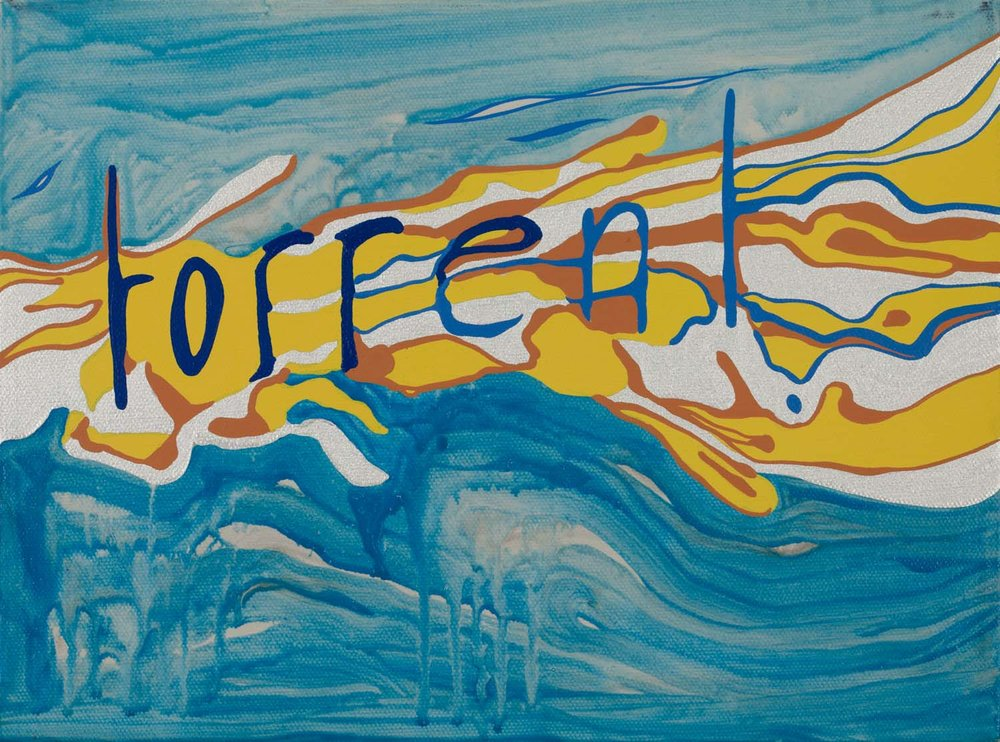 torrent , 2011 9 x 12 inches acrylic on canvas