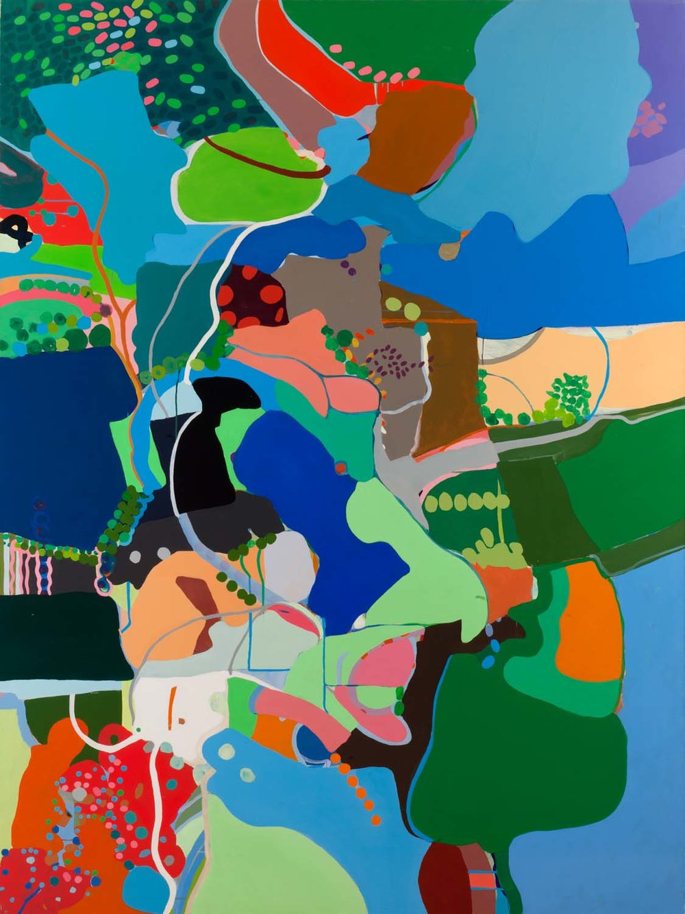 hybridized L/A , 2011 90 x 68 inches acrylic on canvas