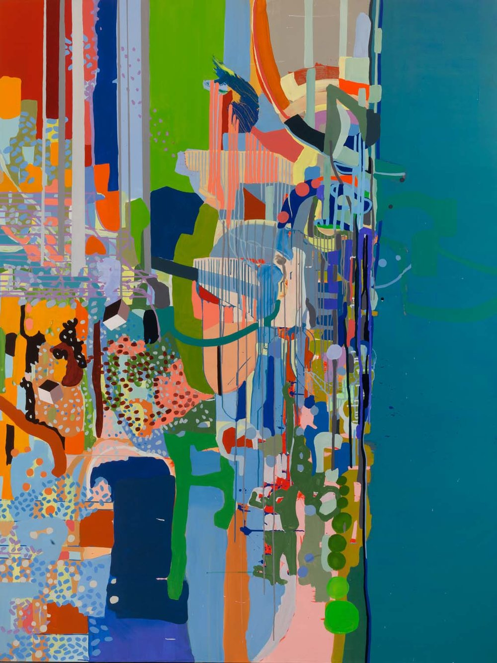 mouthing of geisha southeast , 2011 92 x 70 inches acrylic on canvas