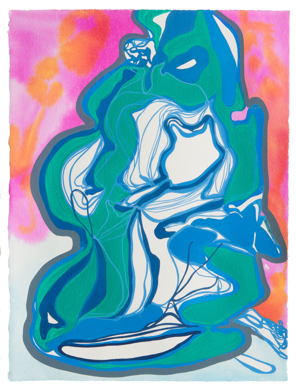 untitled c, 2017 15 x 11 1/2 inches gouache on paper 100-103