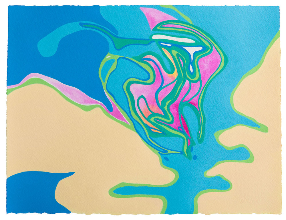 untitled n, 2017 11 1/2 x 15 inches gouache on paper 100-114