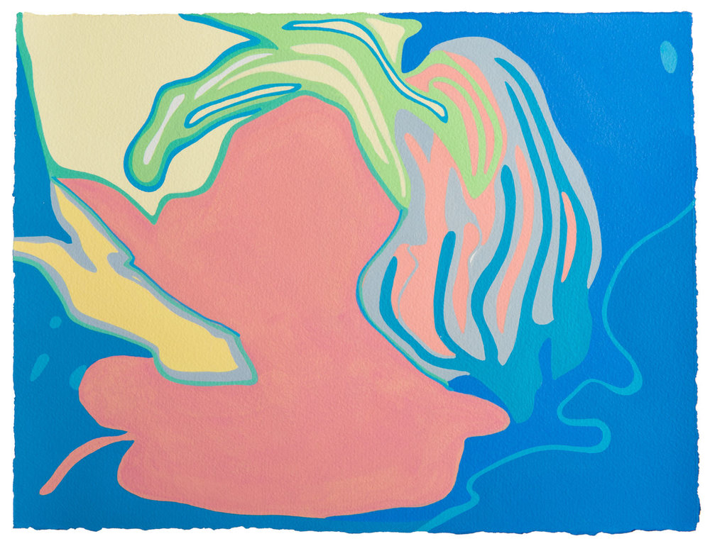 untitled a, 2017 11 1/2 x 15 inches gouache on paper 100-101
