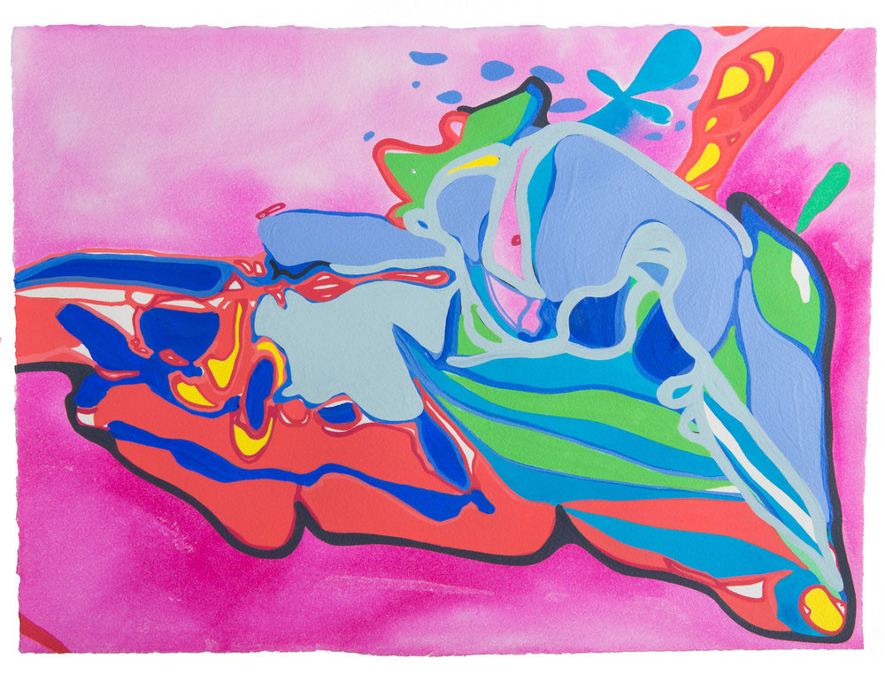 untitled s, 2017 11 1/2 x 15 inches gouache on paper 100-119