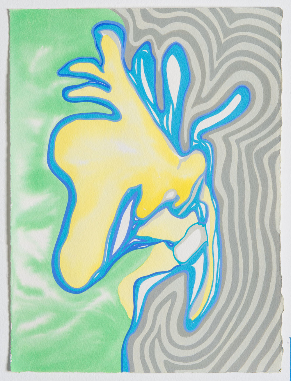 untitled w, 2017 15 x 11 1/2 inches gouache on paper 100-123
