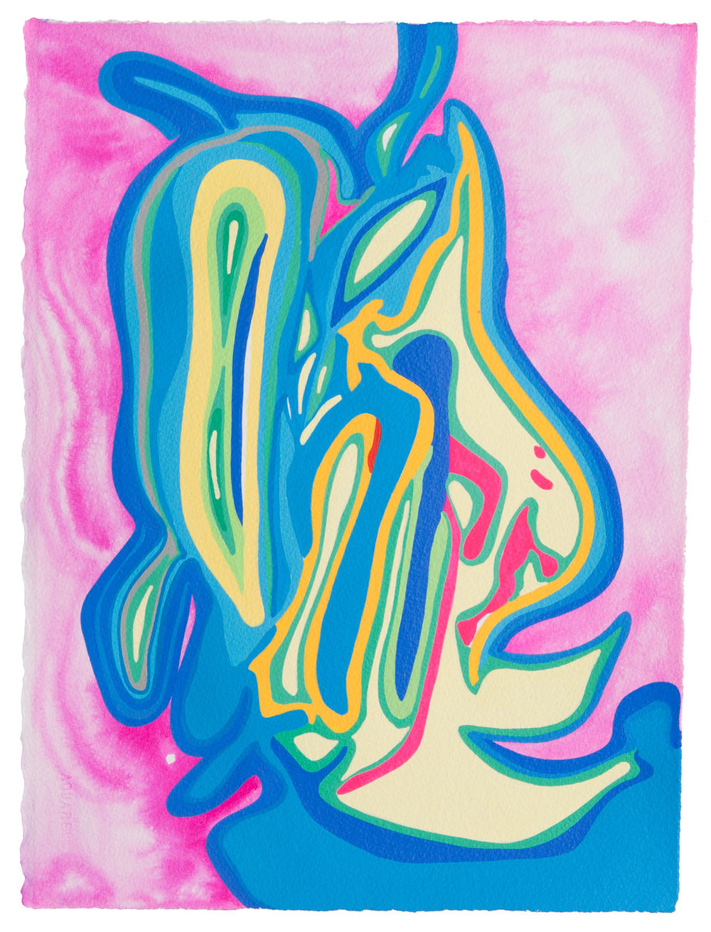 untitled x, 2017 15 x 11 1/2 inches gouache on paper 100-124
