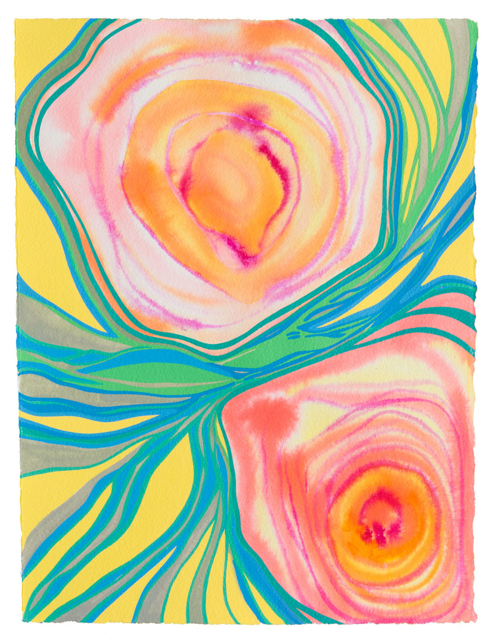 untitled u, 2017 11 1/2 x 15 inches gouache on paper 100-121