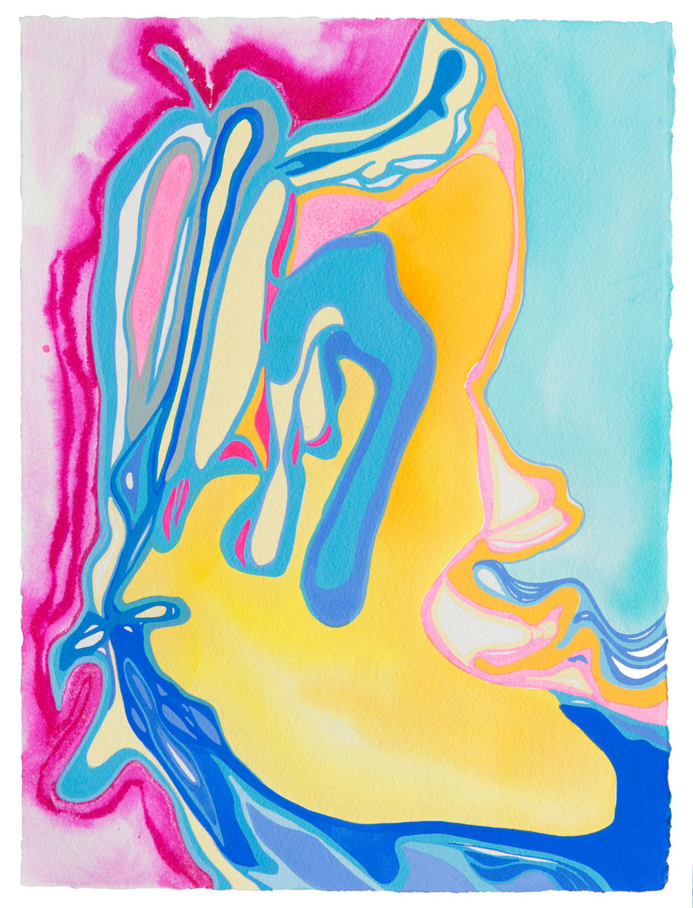 untitled ae, 2017 15 x 11 1/2 inches gouache on paper 100-130