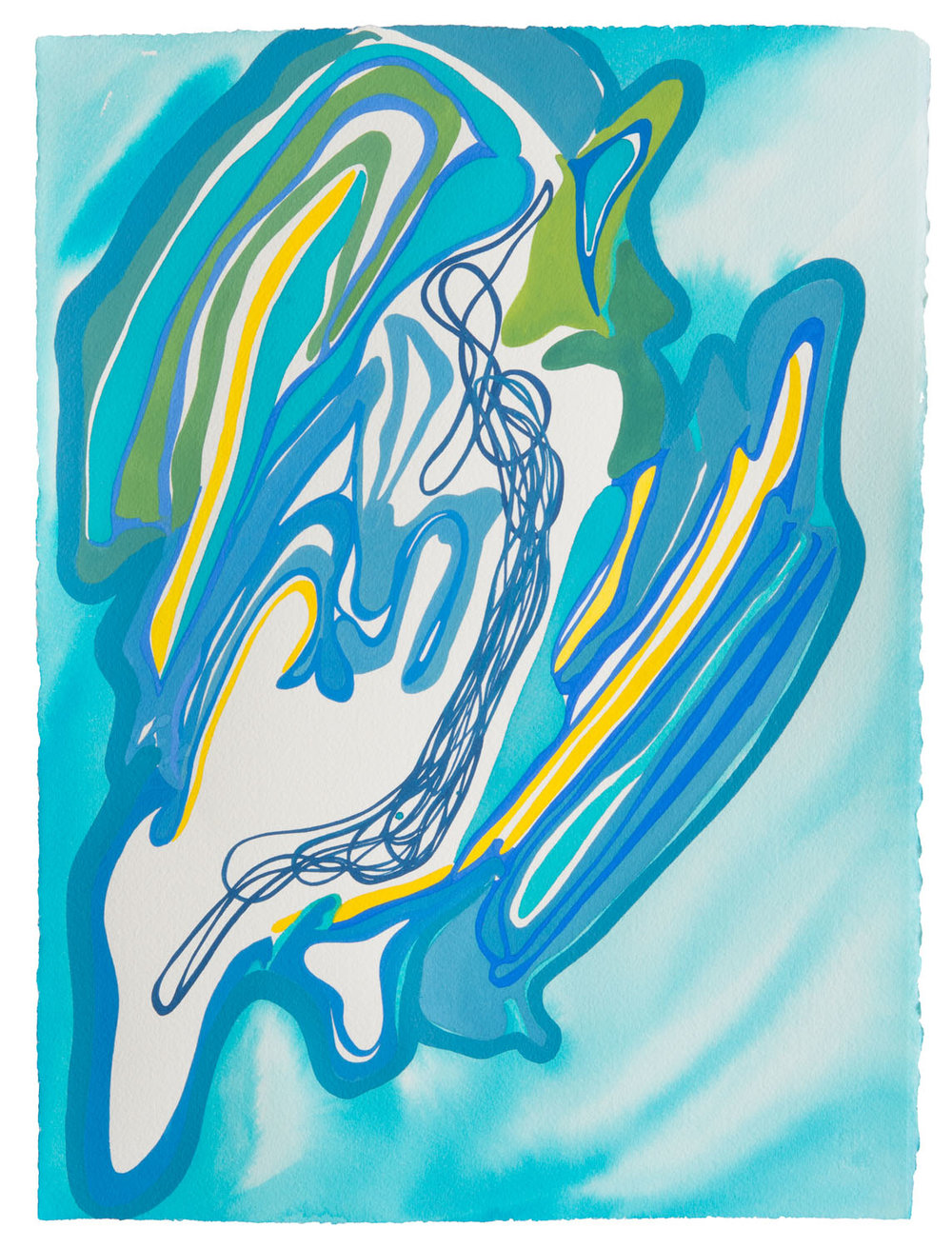 untitled ag, 2017 15 x 11 1/2 inches gouache on paper 100-132