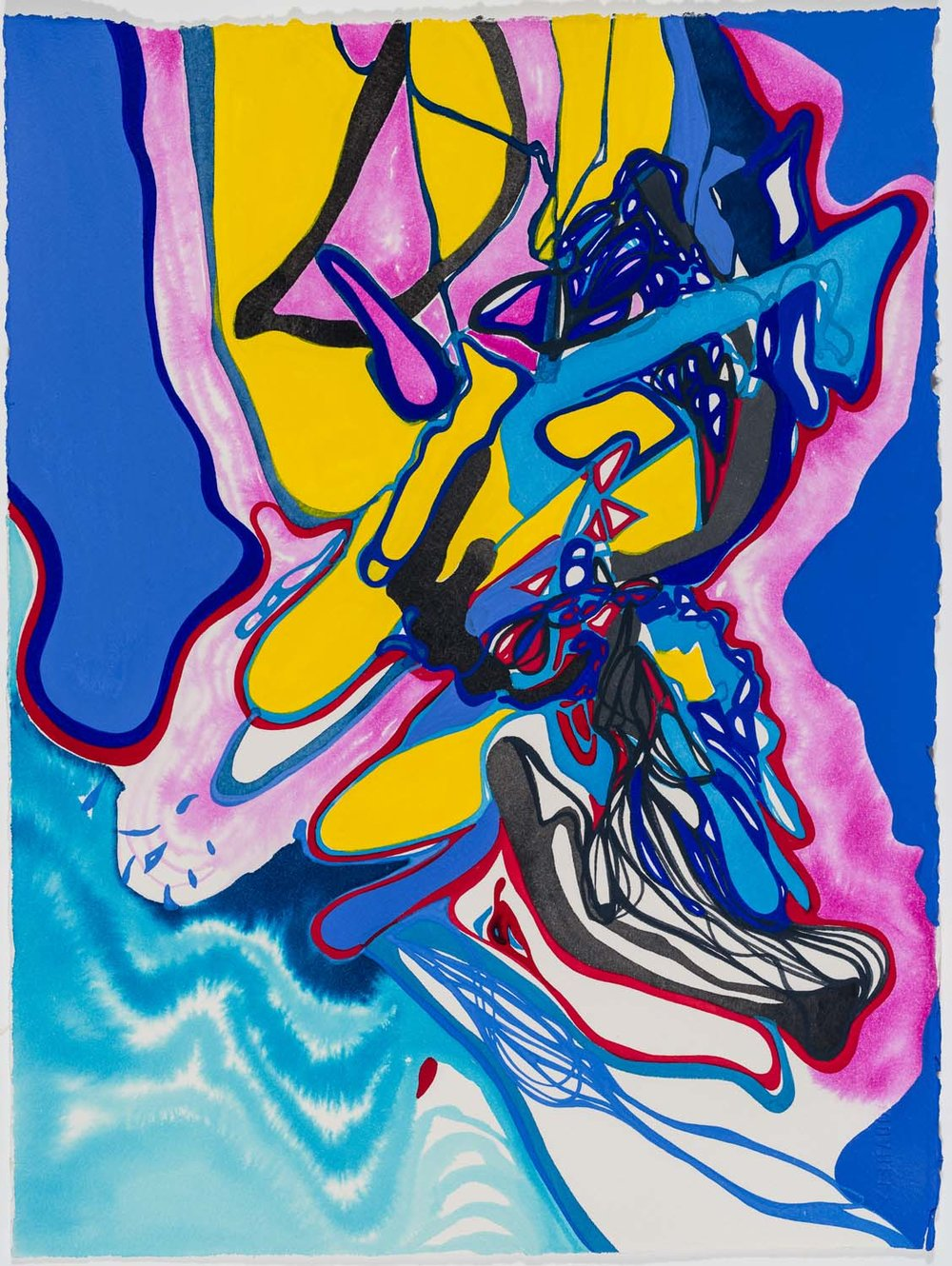 untitled ah, 2017 15 x 11 1/2 inches gouache on paper 100-133