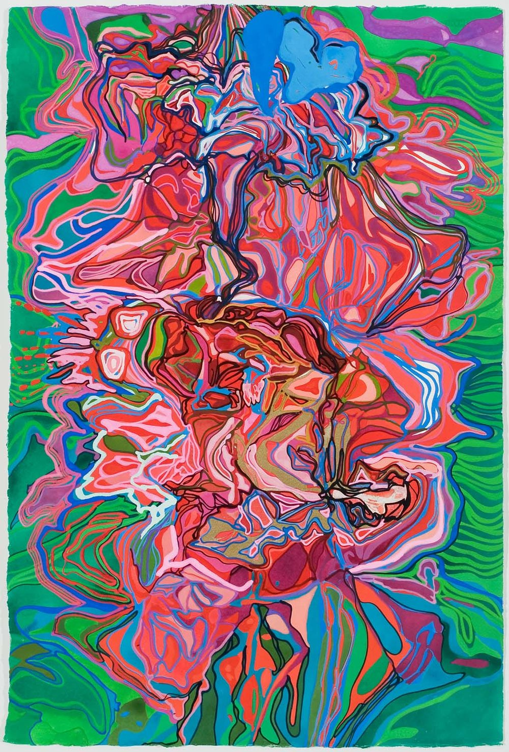 untitled au, tbd 30 x 23 inches gouache on paper 200-146