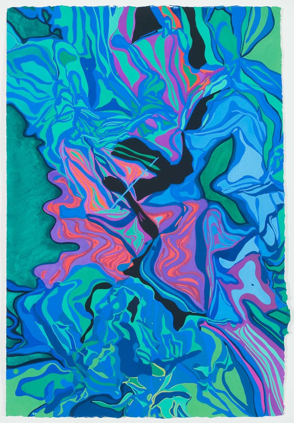 untitled at, tbd 30 x 23 inches gouache on paper 100-145