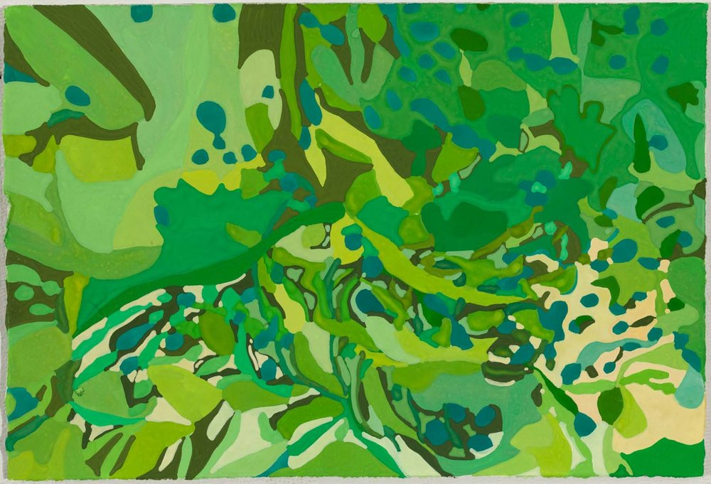 untitled bg, tbd tbd inches gouache on paper 100-152