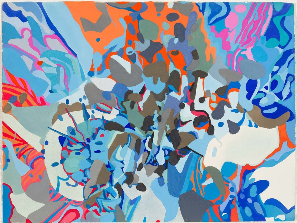 untitled bk, tbd 11 1/2 x 15 inches gouache on paper 100-160