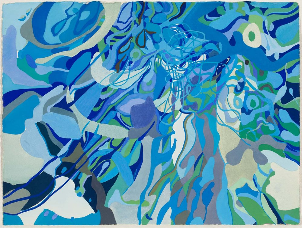 untitled bl, tbd 11 1/2 x 15 inches gouache on paper 100-161
