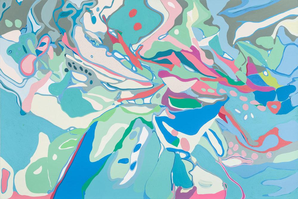 seas siege , 2018 28 x 42 inches acrylic on canvas