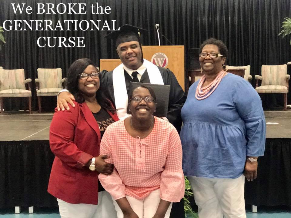 Picture Caption: Right- Monchel Hollins, Jessica Henderson (sister), LieDerick Henderson (brother) and Rosa Henderson (mom). Monchel Hollins, Author of  Education Saved My Life  attends her oldest brother's graduation from George C Wallace Community College on May 9, 2018. He dropped out of high school in the 10th grade, her mother dropped out of high school in 11th grade. Her mother mother gave birth to her brother at 16, Monchel gave birth at 15 years old and her sister gave birth at 17 years old. Today, all three of them are college graduates. Learn how Monchel escaped poverty using education at MonchelHollins.com. Monchel's success story is also featured in the   Connected Woman Magazine   .
