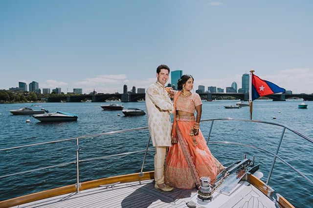 Baraat Yacht + Boston Skyline = Wedding Day Perfect! ⠀⠀⠀⠀⠀⠀⠀⠀⠀ #indianbride #indianwedding #desibride #desiwedding #bridalportrait #stunningbride #IndianWeddings #indianweddinginspiration #indianweddingbuzz #indianweddingphotographer #indianweddingphotography #indianweddingjewellery #indianweddingmakeup #indianweddingdress #indianweddingoutfits #indianweddingseason #indianweddinginspo #indianweddingfashion #indianweddingwear #indianweddingstyle #indianweddingglam #bridalportraitsession #bridalportraiture #sony #sonyA7RIII #sonyportrait #sonyphotographer #sonyportraitphotographer #bostonweddingphotographer #bostonskyline