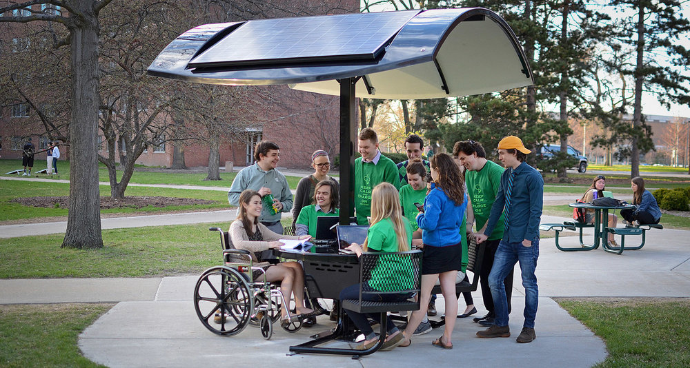 Evodia Solar Table at Michigan State University.