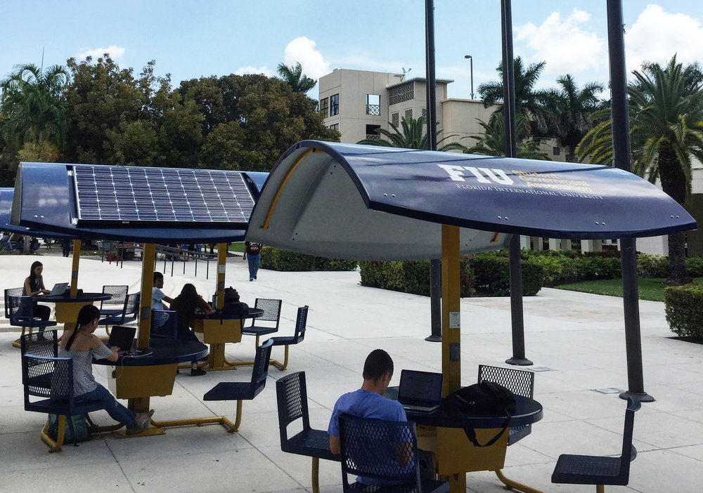 Evodia Solar Tables giving power to students after Hurricane Irma.