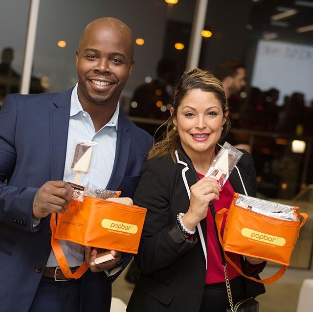 Guests enjoying the gourmet gelato from @popbar! Thank you for being such a fun part of our event! 📸@wilsonparishphotography