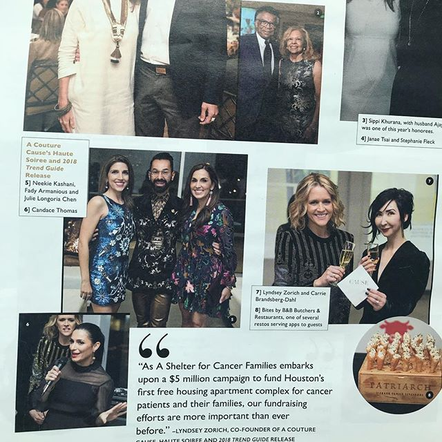 Thank you to @houston_magazine for including A Couture Cause in the March issue! 🙌🏼 #acouturecause