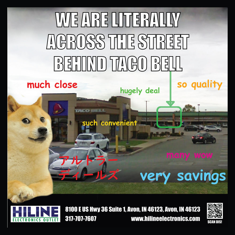 HEY-OOO HILINE! electronics! - Click link below.