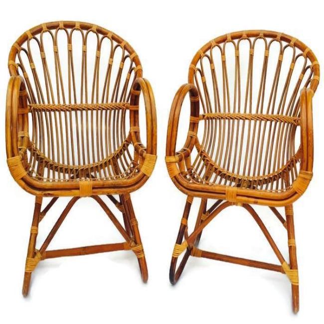 Franco Albini Rattan Chairs