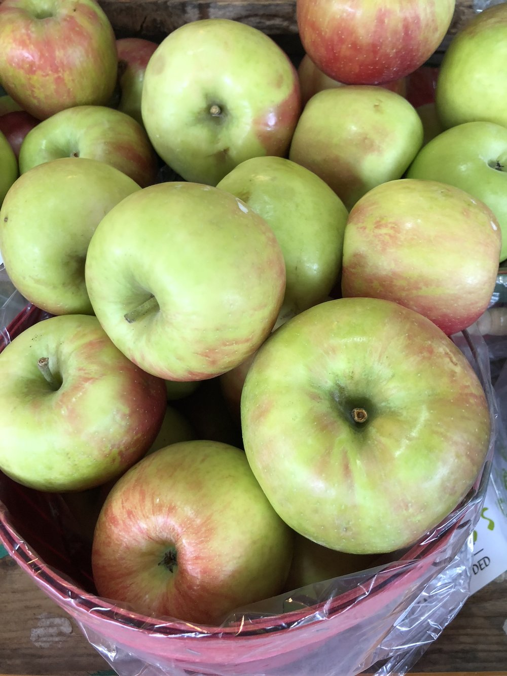 Locally grown apples at Russo's.