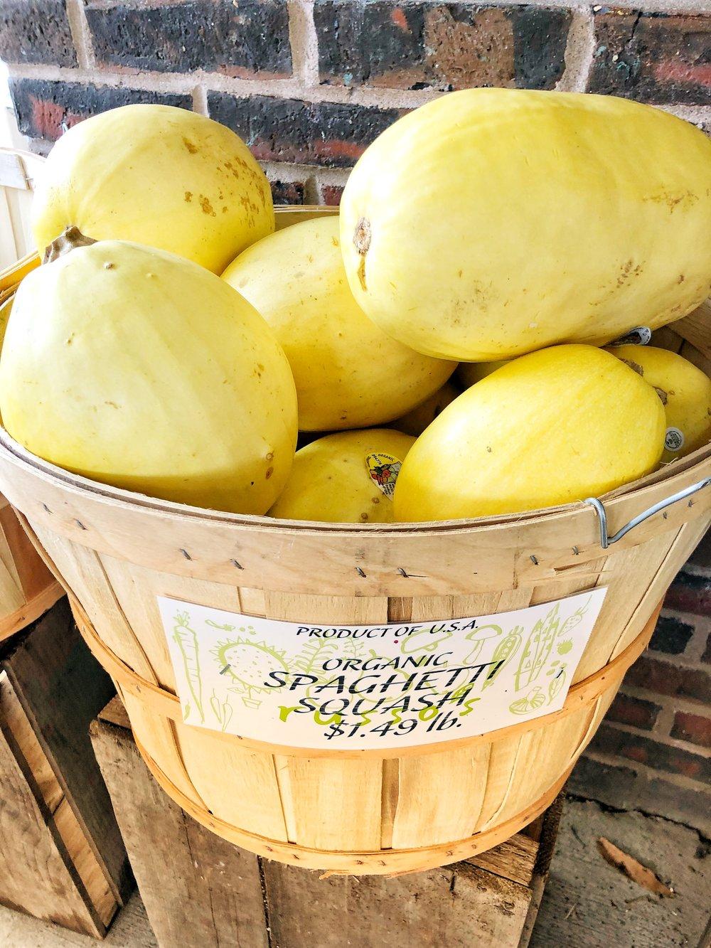 Special: Organic local winter squash $.98 lb.