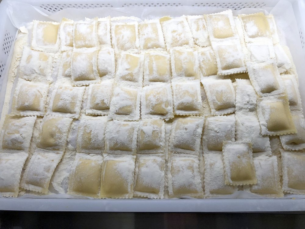 Homemade raviolis on special this week at Russo's.